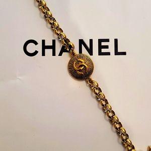Authentic Chanel Stamped CC Sunburst + Bracelet